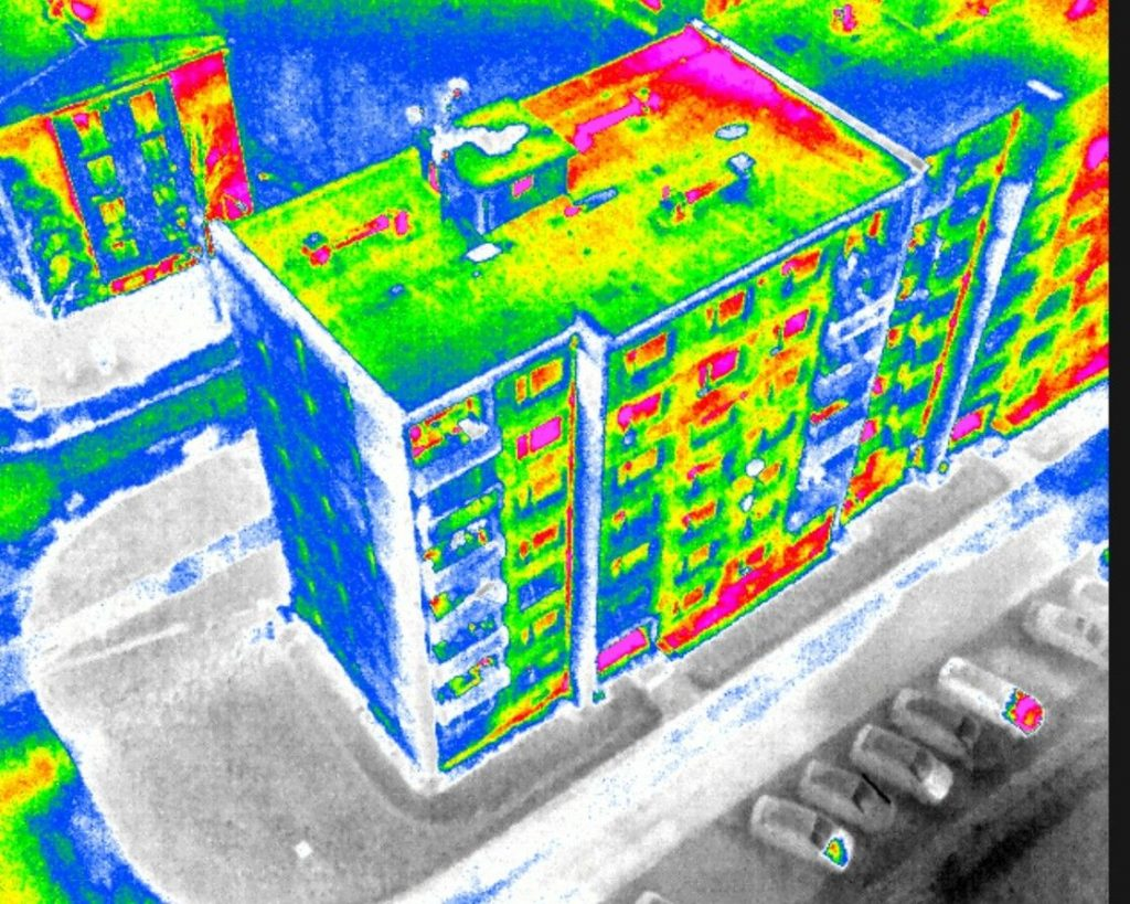 Filtraciones en cubiertas camara termica dron