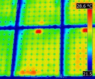 Huertos solares camara termica dron