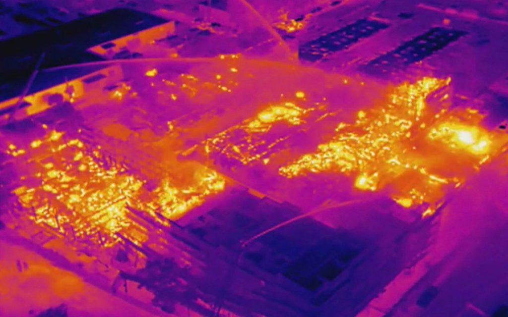 Incendio Dron camara termica