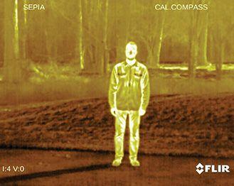 Paleta térmica para cámara termográfica de caza