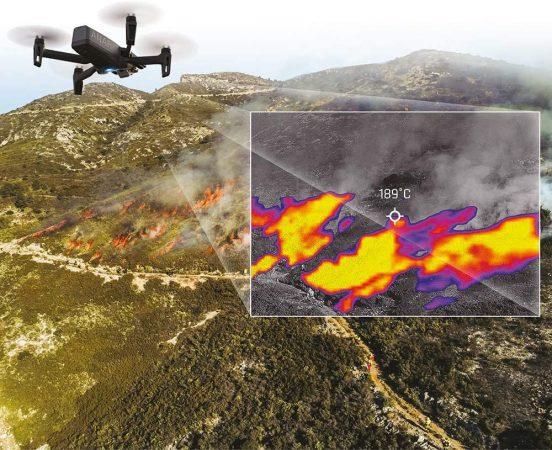 drone con camara termografica